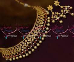 necklace neck sizes images Nl9252 ruby white pearl drops choker necklace all neck size gold JPG