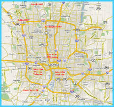 map of columbus map of columbus ohio vacations travel map