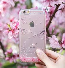 cherry blossom flowers silicone transparent cat cherryblossom flowers iphone 6