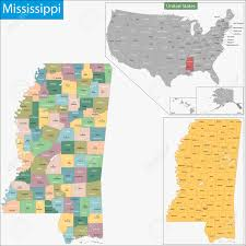 State Of Mississippi Map by Map Of Mississippi State Designed In Illustration With The