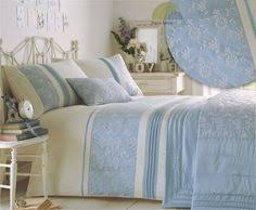 Duck Egg Blue Bed Linen - vantona rose damask jacquard duvet cover sets duck egg blue