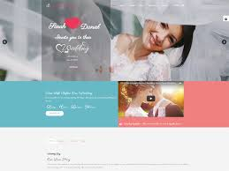 free wedding websites at weddy free wedding website template freemium