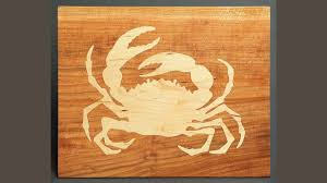 making a cnc inlay crab cutting board andrew pitts