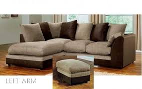 Dylan Byron Corner Sofa Brown  Beige Right Or Left With Matching - Dylan sofa