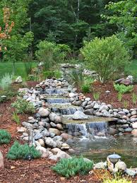 landscape design ideas with rocks small waterfall swimming pool