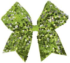 bow for hair chasse dangle sequin performance hair bow