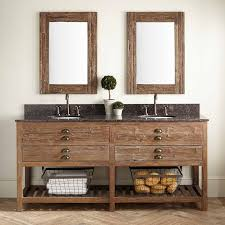 Bathroom Double Vanity Cabinets by Bathroom Reclaimed Wood Bathroom Vanity For Access And Storage