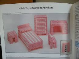 Free Barbie Dollhouse Furniture Plans by 199 Best Plastic Canvas Furniture Images On Pinterest Plastic