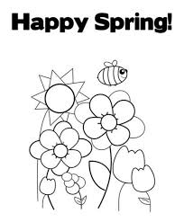 happy coloring pages printable spring spring coloring pages of