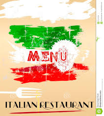 menu for italian restaurant royalty free stock images image