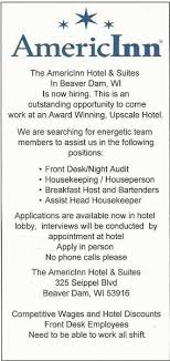 front desk jobs hiring now employment