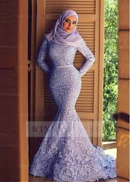 islamic wedding dresses shop discount lace waistline mermaid arabic islamic