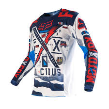 youth motocross gear clearance fox racing 2016 youth 180 vicious jersey blue white available at