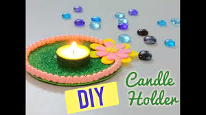 diy candle holder using recycled cd how to make candleholder