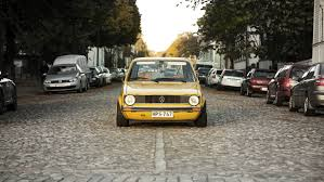 volkswagen yellow wallpaper volkswagen golf mk1 yellow front view hd picture image