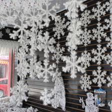 11cm christmas ornament white snowflakes plastic christmas