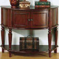Entry Hall Furniture by Coaster Accent Tables Brown Entry Table With Curved Front U0026 Inlay