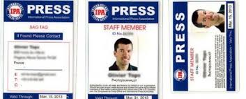 press card archives international press association