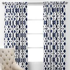 White And Navy Curtains Blue And White Panels