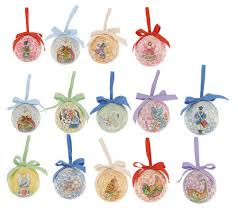 jim shore 12 days of set of 14 hanging ornaments qvc