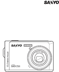 sanyo digital camera vpc s1070 user guide manualsonline com