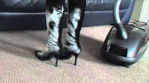 vacuuming in high heels flour youtube