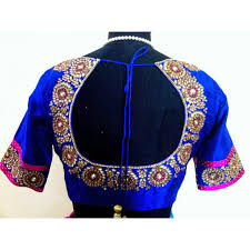 Buy Royal Blue Pure Silk Online Shopping Store To Buy Latest Readymade Beautiful Blouses