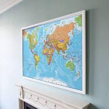 Large World Map Poster Framed World Maps Scrapsofme Me