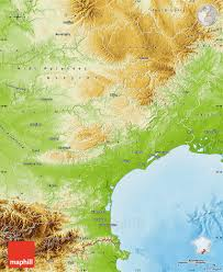 France Physical Map by Physical Map Of Languedoc Roussillon