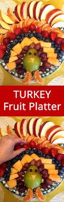 thanksgiving turkey shaped fruit platter appetizer recipe
