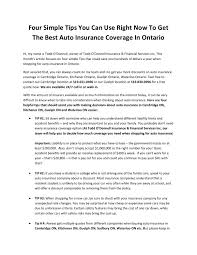 four simple tips you can use right now to get the best auto insurance coverage in ontario by cusackalee issuu