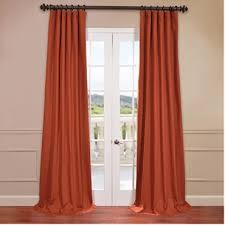 solid cotton twill curtains panels cotton curtains