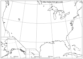 Blank World Map Of Continents by Outline Map Of The Usa 50 States With Parallels And Meridians