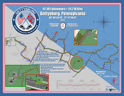 Boston Marathon Route Map by Marathon Course Gettysburg North South Marathon Historic