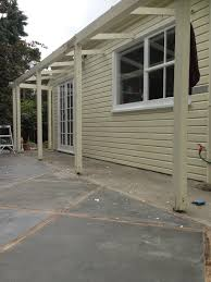 Pergola Off House by Colonial Revival Our Churton Abode House Painting