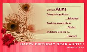 aunt birthday verses card verses greetings and wishes