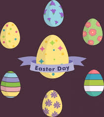 decorative eggs easter day background colorful decorative eggs icons free vector
