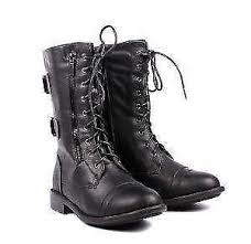 womens size 12 black combat boots womens combat boots ebay
