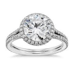 halo engagement rings blue nile studio cambridge halo engagement ring in