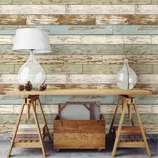 nuwallpaper old salem vintage wood peel u0026 stick wallpaper blue