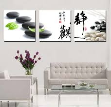 printed canvas wall paintings chinese style calligraphy and