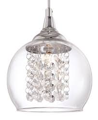 contemporary mini pendant lighting kitchen possini euro encircled crystal 6