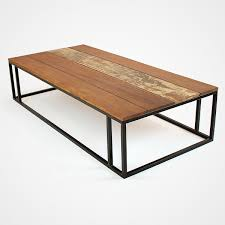 wood plank coffee table reclaimed wood planks and metal base coffee table rotsen furniture