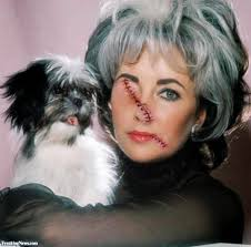 liz taylor with stitches pictures