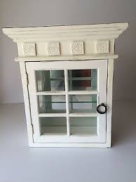 Shabby Chic Wall Cabinets by Shabby Chic White Wall Hung Or Standing Curio Or Bathroom Cabinet