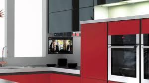 tv in kitchen ideas eidola cabinet flip smart kitchen tv