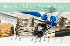 How to make a travel budget jpg