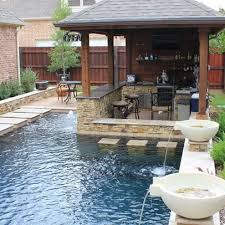 Backyards Design Ideas Small Backyard Pools Design Ideas This Swim Up Bbq