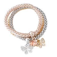 rose gold bracelet set images 3pcs gold silver rose gold bracelets set bangle bracelet for women jpg