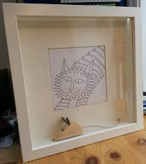 Ikea Ribba Cat Chasing Mouse In Ikea Ribba Deep Frame Littlecattales